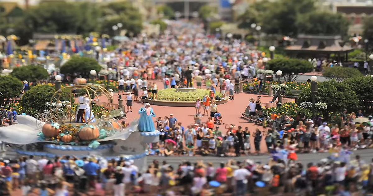 Disney World en miniature grâce au tilt-shift