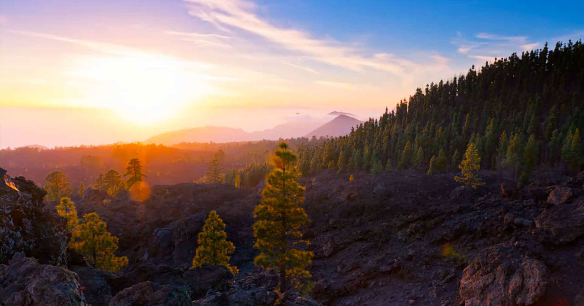 Le volcan El Teide en time-lapse