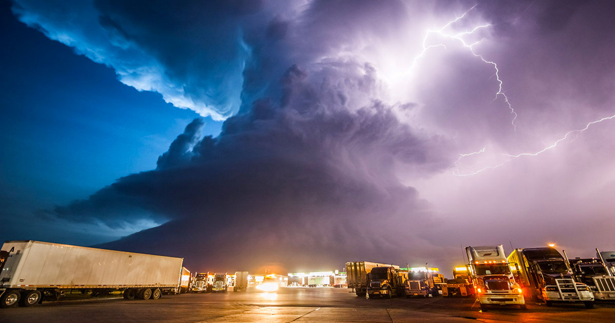 Supercell Thunderstorms Animated