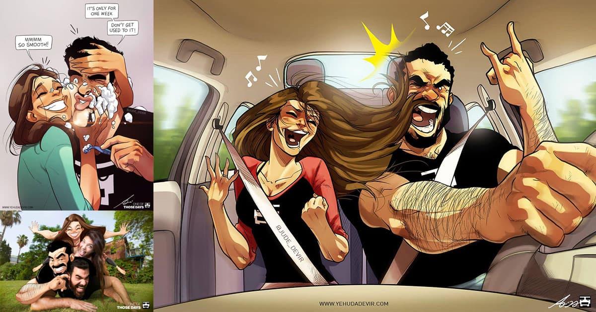 Yehuda Devir dessine sa drôle et adorable vie de couple